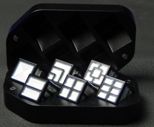 Custom dice box - machined and color anodized aluminium, large black box full of dice
