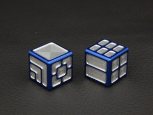 Custom Dice - blue color anodized aluminium dice XLP v2.0