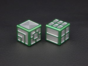 Custom Dice - green color anodized aluminium dice XLP v2.0