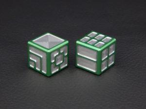 Custom Dice - green color anodized aluminium dice XLP v2.0