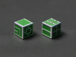 Custom Dice - green color anodized aluminium dice XLP v2.0 reverse