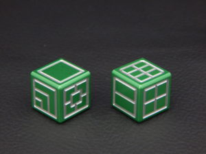 Custom Dice - green color anodized aluminium dice iXLP v2.0