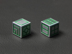 Custom Dice - green color anodized aluminium dice iXLP v2.0 reverse