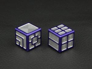 Custom Dice - purple color anodized aluminium dice XLP v2.0