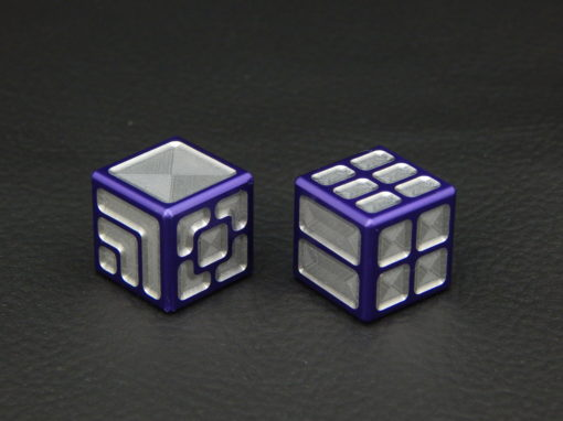 Custom Dice - purple color anodized aluminium dice XLP v2.0