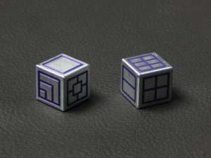 Custom Dice - purple color anodized aluminium dice iXLP v2.0 reverse