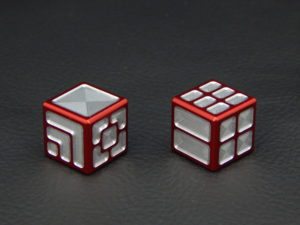 Custom Dice - red color anodized aluminium dice XLP v2.0