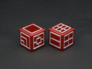 Custom Dice - red color anodized aluminium dice iXLP v2.0
