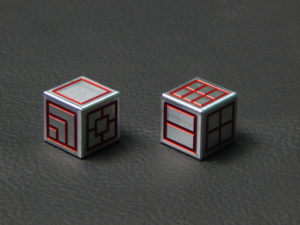 Custom Dice - red color anodized aluminium dice iXLP v2.0 reverse