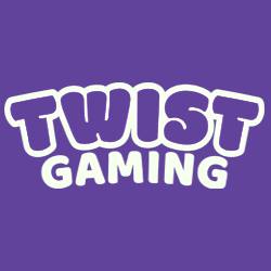 TWIST Gaming logo - white text on purple background