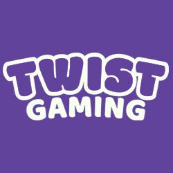 TWIST Gaming logo - white text on purple background