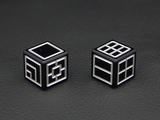 Custom Dice - black color anodized aluminium dice iXLP v2.0