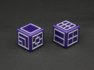 Custom Dice - purple color anodized aluminium dice iXLP v2.0