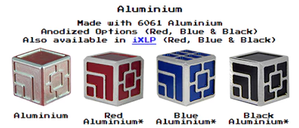 Custom metal dice XLP and iXLP v1.0 machined and anodized Aluminium