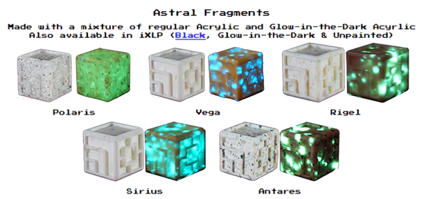 Custom Dice - Glow-in-the-Dark acrylic dice XLP or iXLP v1.0 Random Astral Fragments