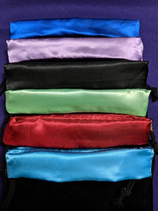 velveteen dice bags with sateen interior in a variety of colors
