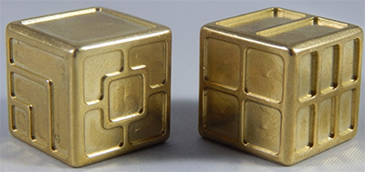 Custom metal dice XLP v1.0 Random Brass Second