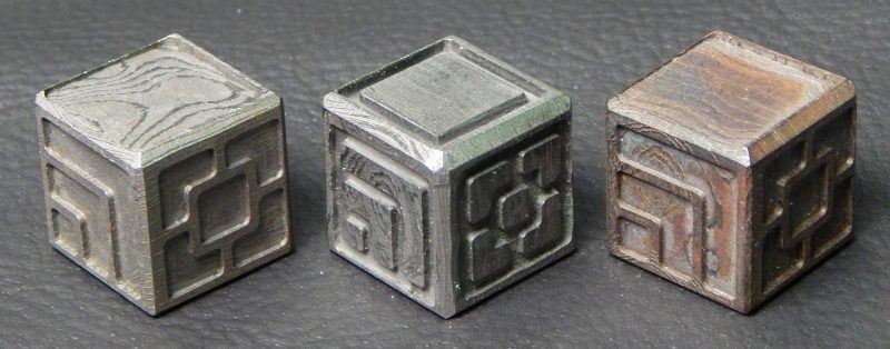 Custom metal dice XLP v1.0 Random Damascus Steel Second