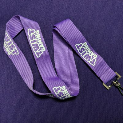 TWIST Gaming branded lanyard