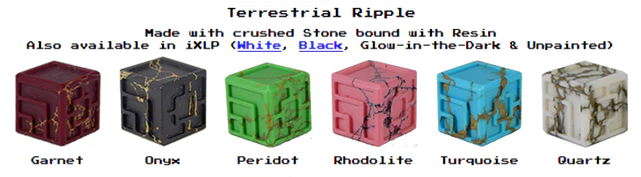 Custom stone and resin dice XLP or iXLP v1.0 Random Terrestrial Ripple
