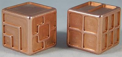 Custom metal dice XLP v1.0 Random Copper Second