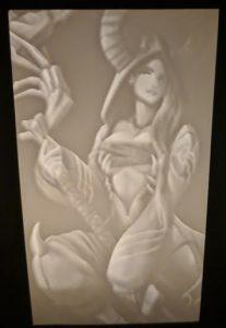 Custom Crafted Lithophane Lantern Insert of Ann