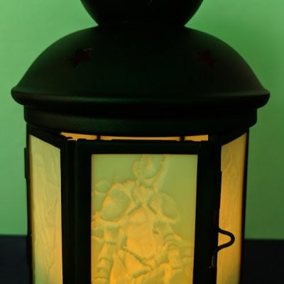 Illuminated Custom Crafted Lithophane Lantern