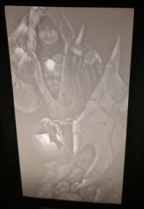Custom Crafted Lithophane Lantern Insert of Josh