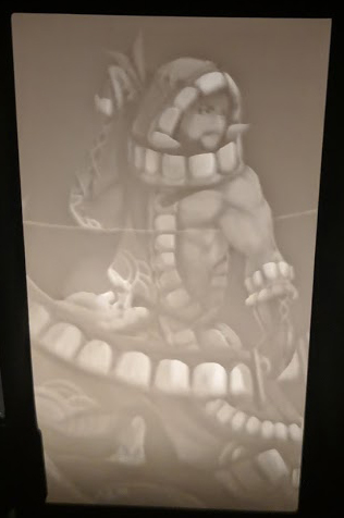 Custom Crafted Lithophane Lantern Insert of Matt